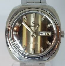 """VINTAGE RARE """"JUPITER"""" BIG STAINLESS STEEL MEN'S SWISS AUTOMATIC DAY/DATE WATCH"""