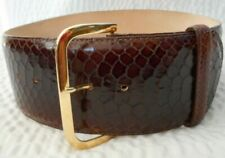 Streets Ahead Snake Skin Brown Leather Belt Size S