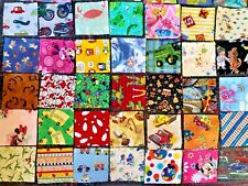Lot Of 25 Assorted Kids Prints Fabric Squares