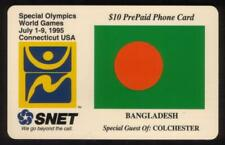$10. Special Olympics World Games (1995) Colchester, CT. Bangladesh Phone Card