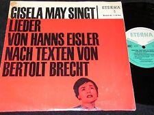 """GISELA MAY SINGT LIEDER VON HANNS EISLER... / DDR 10""""EP 1964 ETERNA 720164"""