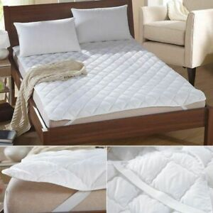 Polyester Mattress Cover Anti-Bacteria Air-Permeable White Multi-Size Topper