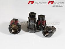 4x Black Locking Wheel Nuts M12x1.5 Fits Honda Civic EG EK EP3 EK9 FN2 TYPE R