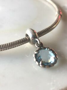 Pandora Sterling Silver Necklace with Blue Sapphire Pendant