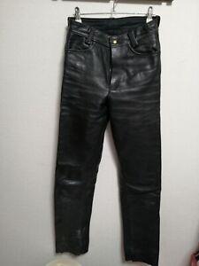 Vanson Leather Black Pants Men Tight For Motorcycles Bike Genuine 76cm 28inch