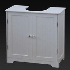 White Under Sink Basin Cabinet Cupboard Bathroom Furniture Storage Unit Toilet