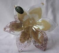 Genuine Italian Art Blown Glass Flower Murano Orchid Made in Italy No 569