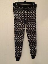 American Eagle Gray Jogger Lounge Pants Small Aztec Tribal Sweater Knit Leggings