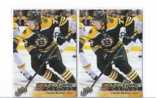 2017-18 UD Series 1 Charlie McAvoy Young Gun Canvas RC 2 Card Lot!  Pack Fresh!