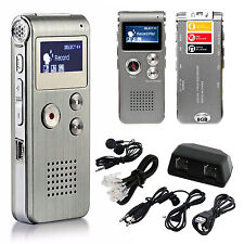Digital Audio Voice Sound Recorder MP3 Player 8GB 650 hr Rechargeable Dictaphone