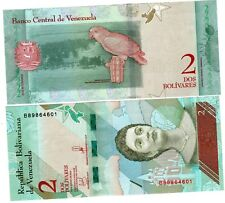 VENEZUELA Billet 2 BOLIVARES 2018 OISEAU / JOSEFA CAMEJO NEW NOUVEAU UNC NEUF