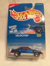 1995 Hot Wheels Velocitor #471 Blue White 5 Spoke Wheels 1:64 Diecast New