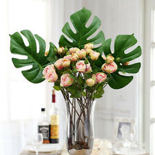 1Pcs large Artificial fake Monstera palm Leaves green plants wedding DIY decor