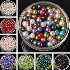 200~1000PCS Bulk Wholesale 4mm 6mm 8mm Glass Pearl Round Loose Spacer Beads Lots