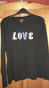 Brand new ladies black  Marks and  Spencer long sleeve t-shirt size 10 with tags