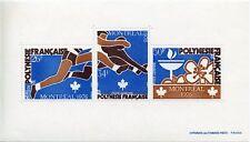 STAMP / TIMBRE POLYNESIE BLOC N° 3 ** JEUX OLYMPIQUES  DE MONTREAL COTE 110 €