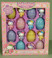 EASTER EGG HUNT 8 HELLO KITTY FIGURINES IN BUNNY COSTUMES NEW IN BOX SANRIO 2007