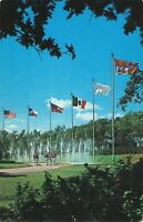 Postcard Dancing Waters and Flags Six Flags Over Texas