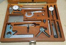 """Mitutoyo - Starrett precision tool kit - 1"""" micrometer, indicator, dial caliper"""