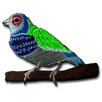 Beautiful Bird Embroidered Patch Iron on Applique Kid Pretty Parrot  Animal Dove