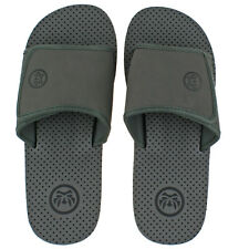 026a1f9fd539 Mens Urban Beach Aria Flip Flops Sandals Size UK 6 - 11 Mule Pool Black Grey