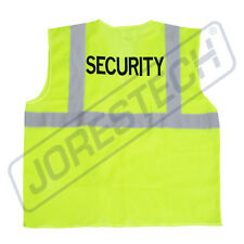 Safety Vest Security Printed Pockets Class 2 Reflective High Vis Joresteck