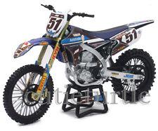 New Ray JGR Yamaha YZ450F Motocross Dirt Bike 1:12 Justin Barcia #51 57713