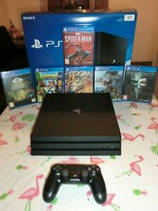 Console PlayStation 4 Pro 1To Ps4 + Manette + 6 Jeux