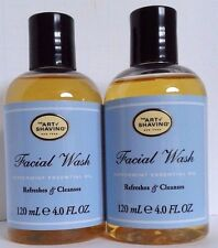 2 pcs The Art of Shaving Facial Wash with Peppermint Essential Oil 4oz ea