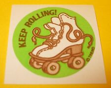 Vtg 70s 80s  TREND Scratch n Sniff MATTE Sticker KEEP ROLLiNG Leather Scent~Rare