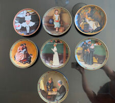 New ListingOfficial Limited Edition Norman Rockwell Collectible Plates ( 7pc Set )