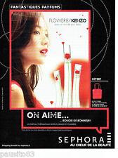 PUBLICITE ADVERTISING 1016  2015  Flower by Kenzo  parfum femme Sephora