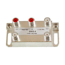 DIRECTV SWM 4-Way Splitter Wide Band 2 2100MHz Satellite Vertical High Isolation