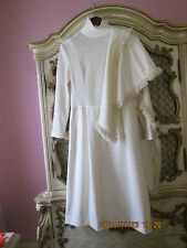 Albert Werber NY/LA Winter White Dress with pockets with Shaw