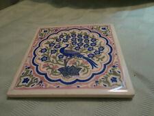 "Vintage Tile by Mosaic Tile Co. PEACOCK 6"" x 6"" Purple/Pink"