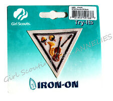SOUNDS OF MUSIC Retired Try-Its It Brownie Girl Scouts Iron-on Multi=1 Ship Chrg