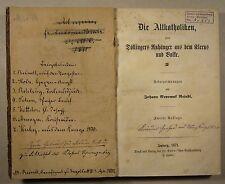STOLZ: HEXEN-ANGST / ROHLING: DER TALMUDJUDE, 8 katholische Broschüren 1869-72