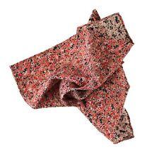 $185 New ITALO FERRETTI Rend Black 100% Silk Abstract Handkerchief Pocket Square