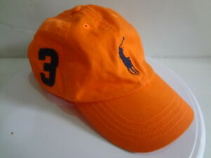 Polo Ralph Lauren Baseball Cap Hat Big Pony Adjustable Strap Youth One Size 4-7