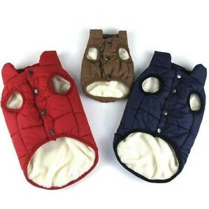 Winter Pet Dog Clothes Warm Buttons Sweater Coat Puppy Fleece Vest Jacket Snow