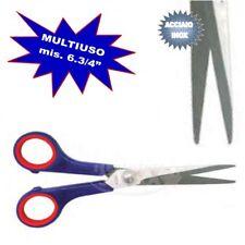FORBICI MULTIUSO ACCIAIO INOX MIS 6 3/4' MANICO ROSSO/BLU X CASA UFFICIO FORBICE