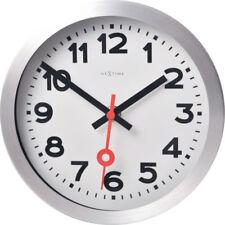 Nextime Horloge Murale Ø19cm de Table Gare Station Silencieux Blanc Salle Séjour