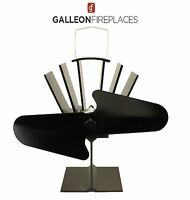 Galleon Fireplaces Heat Powered Eco Stove Fan -  Wood Burning Stove Top Fan