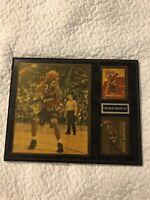 Charles Barkley NBA Basketball Card And Photograph Framed Wood Wall Plaque Hof