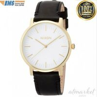 NEW NIXON Watch Porter Leather Gold / Black NA10582523-00 genuine from JAPAN