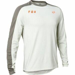 New Fox Racing Men's MTB RANGER DRIRELEASE® SLIDE MID JERSEY Light Grey
