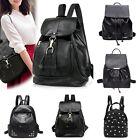 Women's Backpack Travel PU Leather Rucksack Handbag Shoulder Travel School Bag