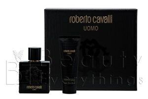 Roberto Cavalli Uomo 2PC Gift Set  3.4oz EDT+ 2.5oz S/G NIB For Men
