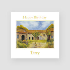 Personalised Handmade Countryside Birthday Card - For Him, Dad, Uncle, Husband