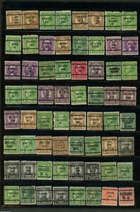 Large lot 64 precanceled U S Stamps as shown (6a)